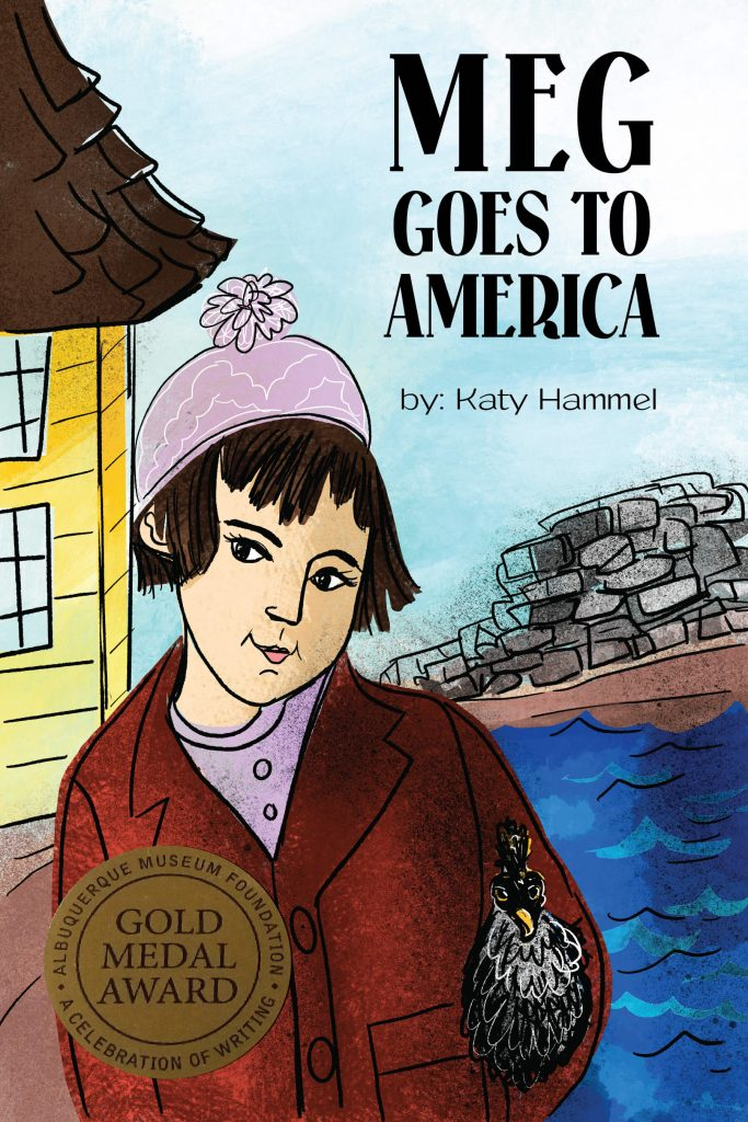 Cover for Meg goes to America